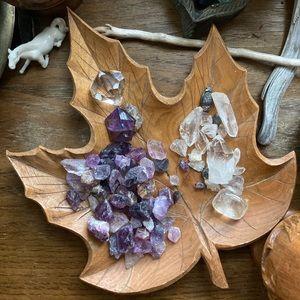 🌙2/$10 3/$15 4/$18 5/$20 : wooden leaf dish